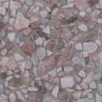 Náhled povrchu krbu - červeno-bílý vymývaný