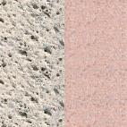 Náhled povrchu krbu - bílo-šedý otryskávaný/terakota otryskávaný