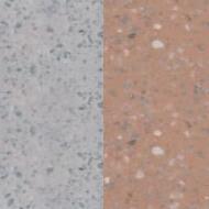 Náhled povrchu krbu - šedý jemný vymývaný/terakota jemný vymývaný