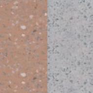Náhled povrchu krbu - terakota jemný vymývaný/šedý jemný vymývaný