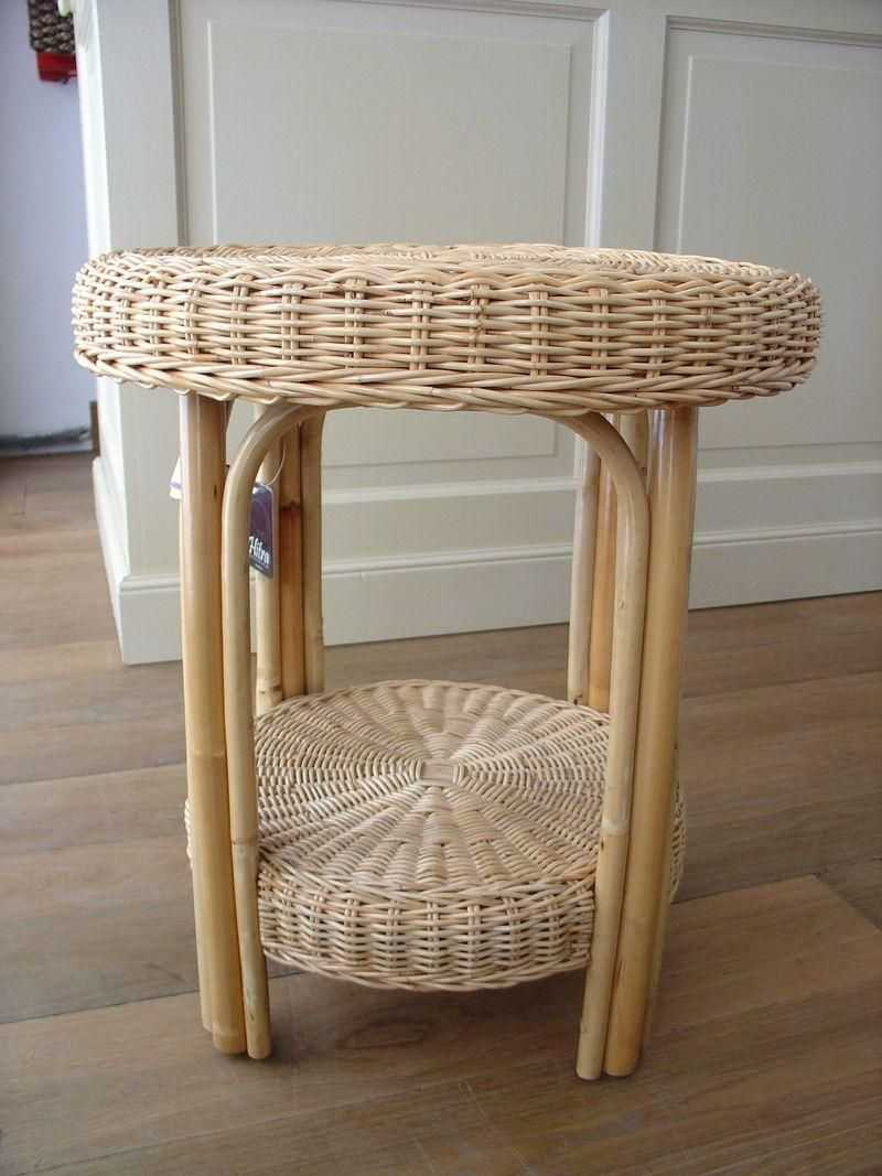 DAISY ratanový stolek - bílý ratan
