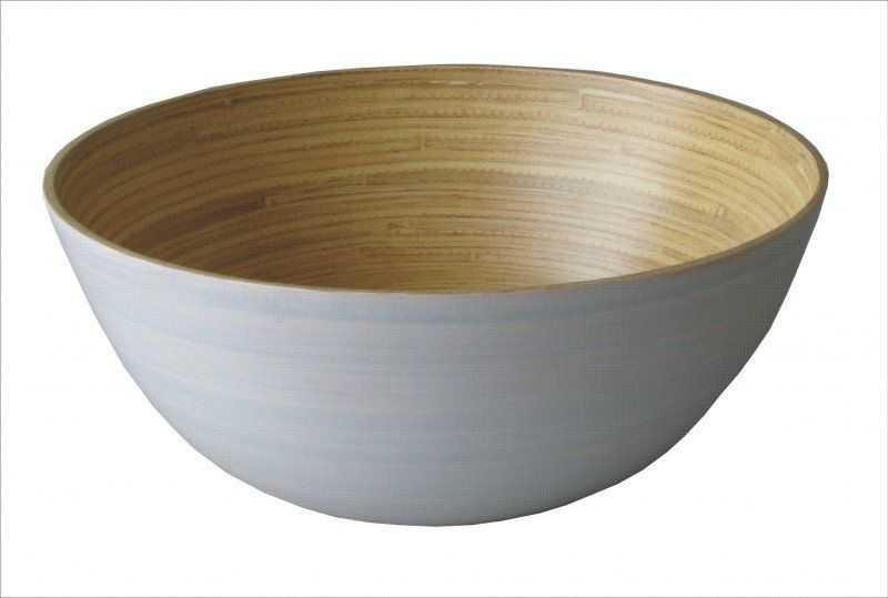 Bambusová miska bílá velká | RYCHLÉ DODÁNÍ