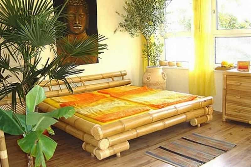Bambusov postel typ 16 23625 k bambusov n bytek - Schlafzimmer bambus ...