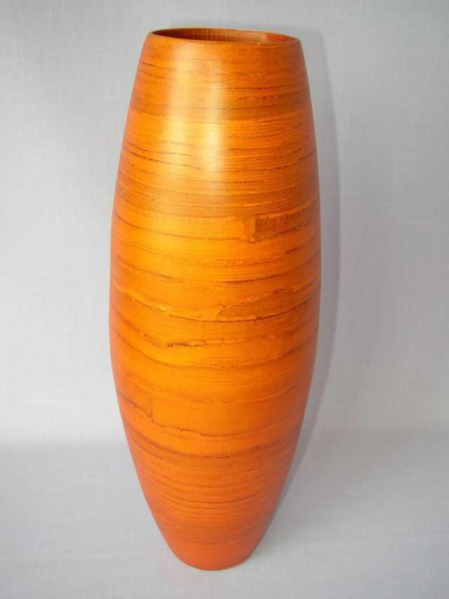 Bambusová váza vysoká oranžová | RYCHLÉ DODÁNÍ