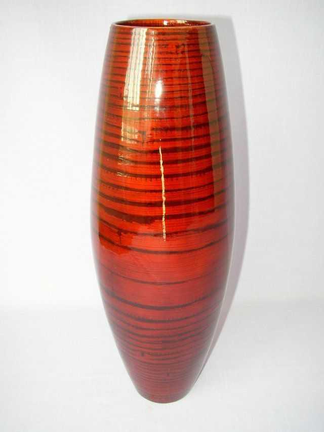 Bambusová váza vysoká červená | RYCHLÉ DODÁNÍ