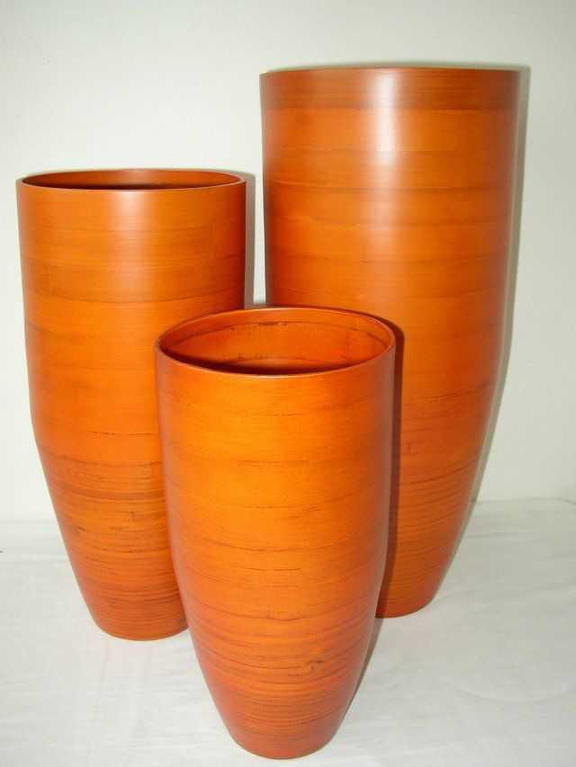 Bambusová váza klasik oranžová M | RYCHLÉ DODÁNÍ