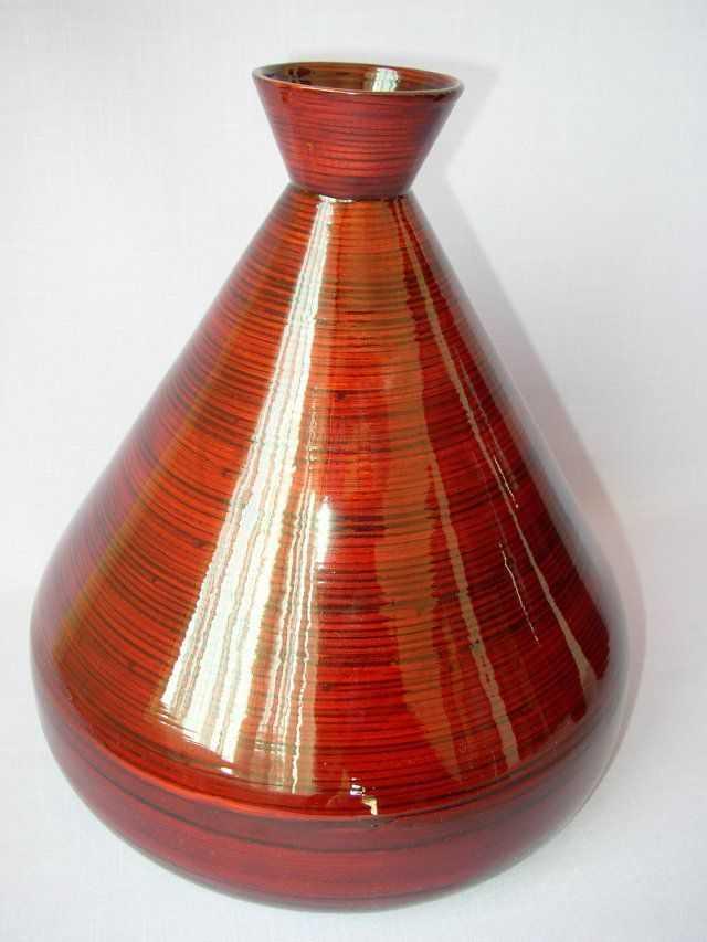 Bambusová váza široká červená | RYCHLÉ DODÁNÍ