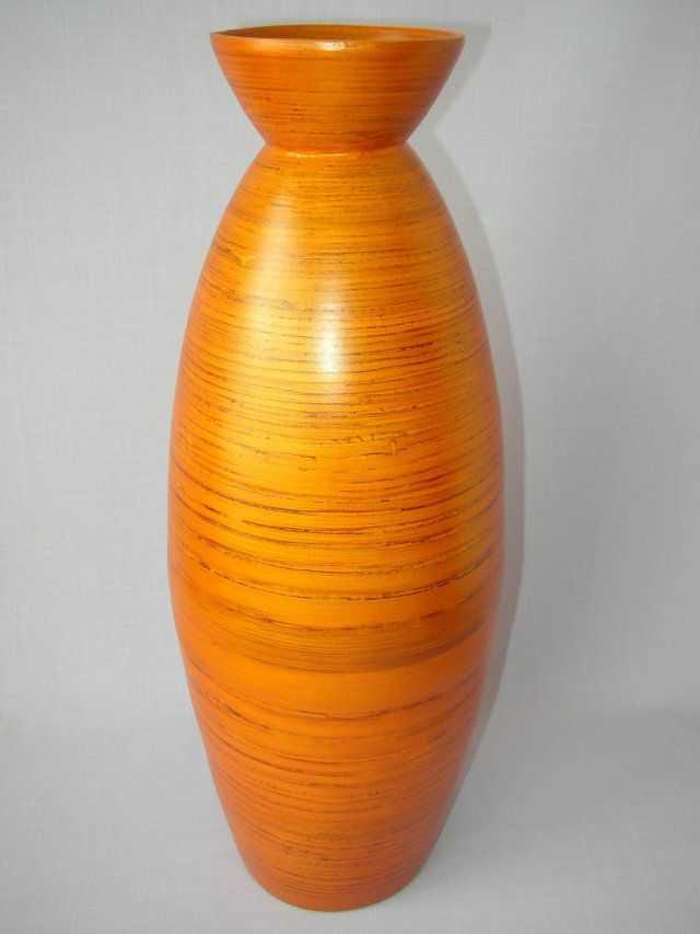 Bambusová váza antik vysoká oranžová | RYCHLÉ DODÁNÍ
