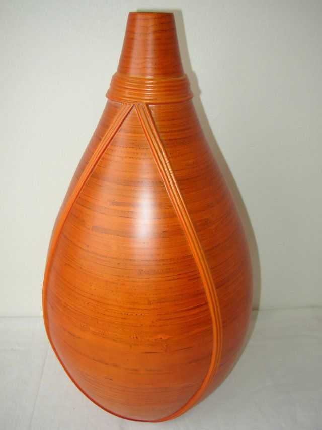 Bambusová váza s ratanem OR | RYCHLÉ DODÁNÍ
