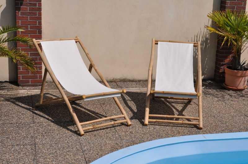 Bambusové lehátko Relax set 2 kusy SLEVA 14 % | RYCHLÉ DODÁNÍ
