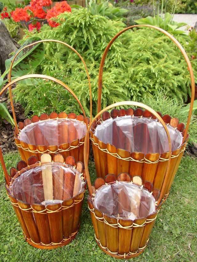 Bambusový obal na květinu set 4 ks | RYCHLÉ DODÁNÍ