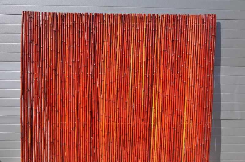 Bambusový plot 2x1,8 m, 18-20 mm barvený vínový SLEVA 13 % | RYCHLÉ DODÁNÍ