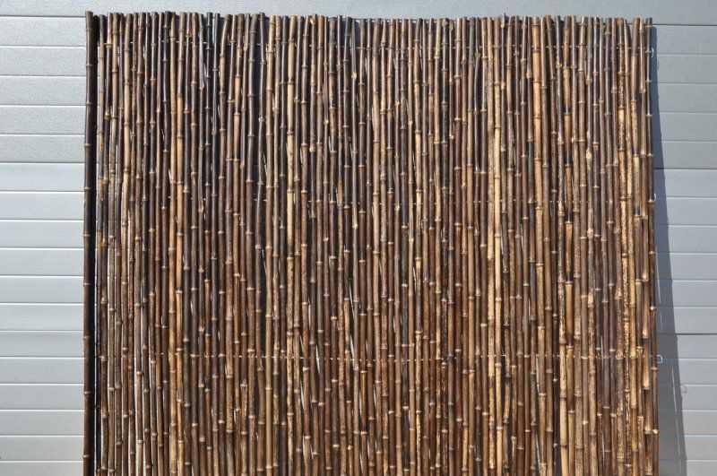Bambusový plot 2x1,8 m, 18-20 mm natural black SLEVA 32 % | RYCHLÉ DODÁNÍ