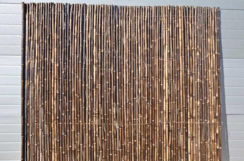 Bambusový plot 2x1,8 m, 25-30 mm natural black SLEVA 32 % | RYCHLÉ DODÁNÍ