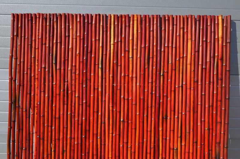 Bambusový plot 2x1,8 m, 26-35 mm barvený vínový SLEVA 13 % | RYCHLÉ DODÁNÍ
