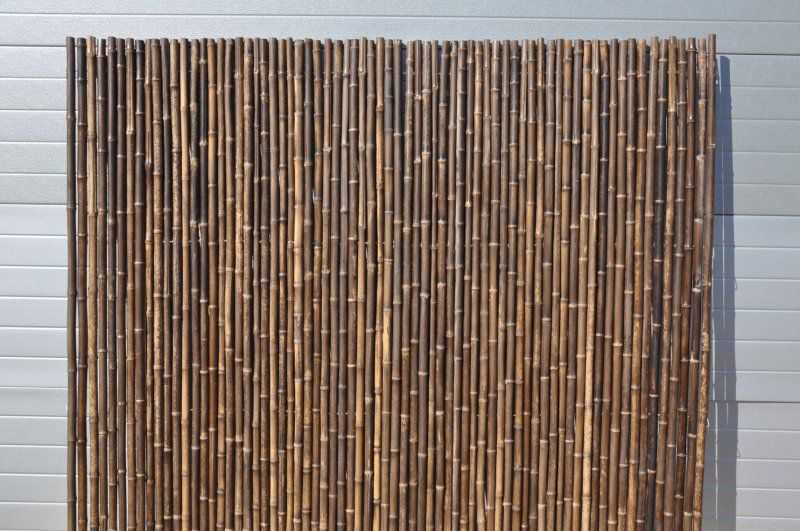 Bambusový plot 2x1,8 m, 26-35 mm natural black SLEVA 32 % | RYCHLÉ DODÁNÍ