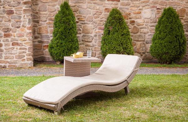 Dimenza zahradní pohodlné lehátko BARCELONA - šedé