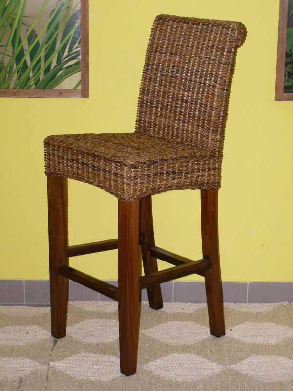 barová židle LENKA - mahagon - banánový list