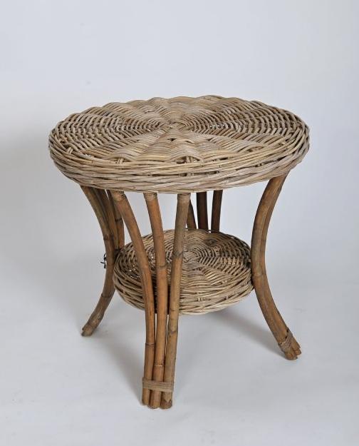 BLANKA ratanový stůl - šedivý | RYCHLÉ DODÁNÍ