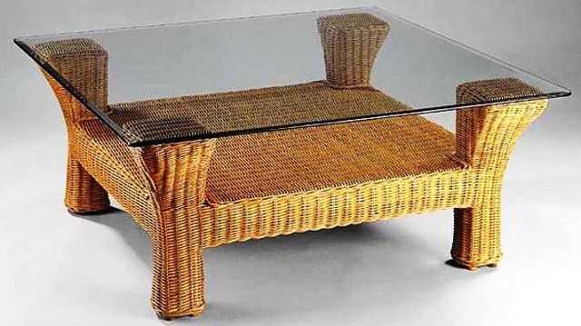BRANTAS ratanový stůl med 90 x 90 cm | RYCHLÉ DODÁNÍ