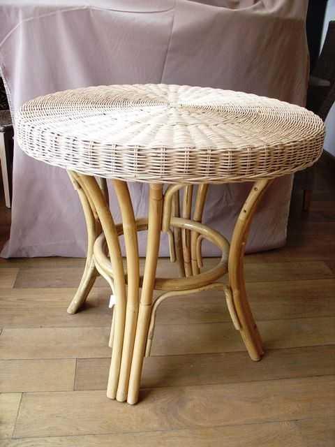Stůl EXOTICA TP ratanový stůl - white pulut