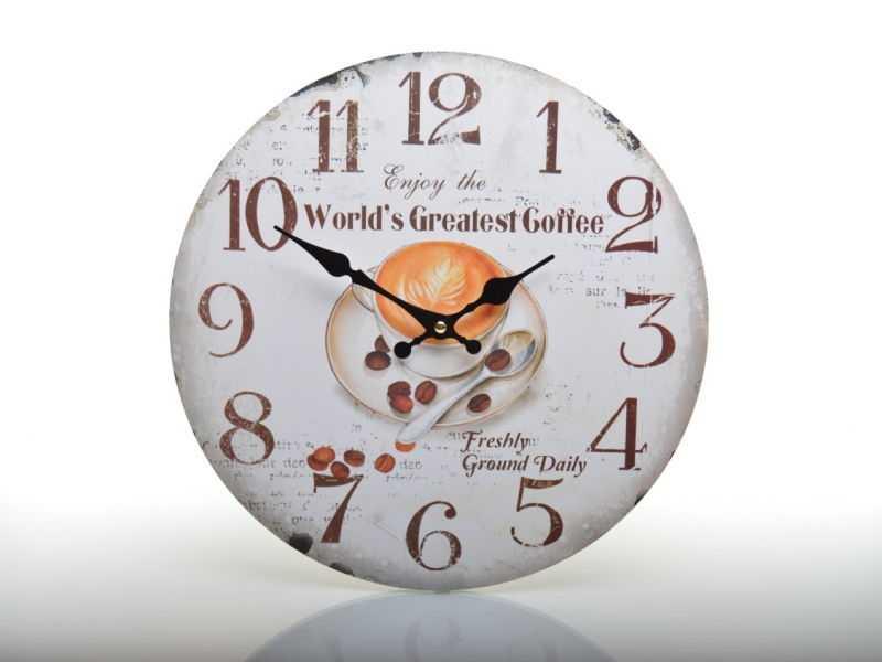 Hodiny nástěnné HLC14508 Enjoy the Worlds Greatest Coffee | RYCHLÉ DODÁNÍ