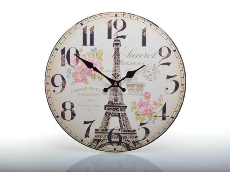 Hodiny nástěnné HLC18071 Eiffelova věž | RYCHLÉ DODÁNÍ