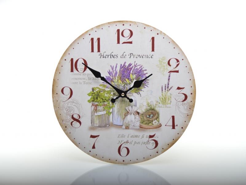 Hodiny nástěnné HLC18119 Herbes de Provence | RYCHLÉ DODÁNÍ