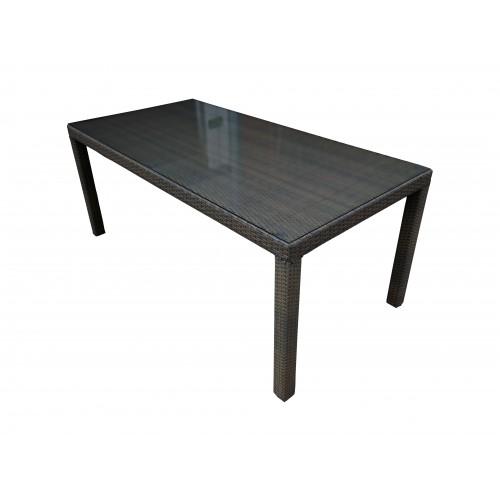 Dimenza zahradní jídelní stůl BARCELONA - hnědý