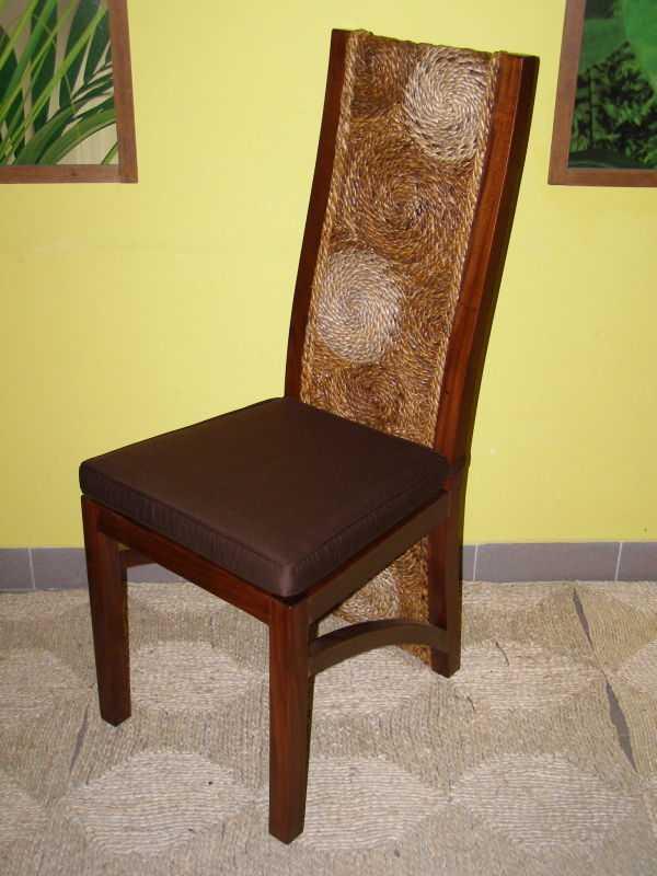 jídelní židle CAUCEDOS - mahagon - banánový list