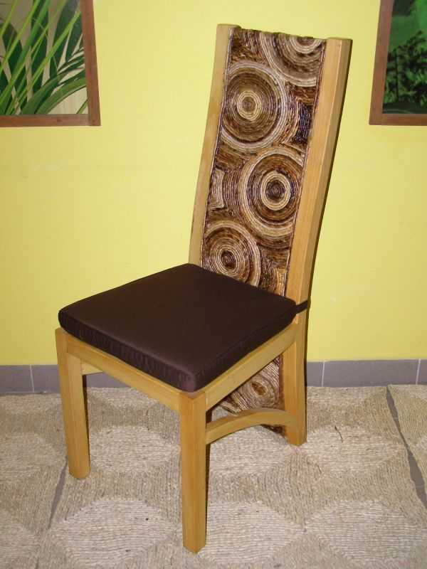 jídelní židle HAIFA - borovice - banánový list