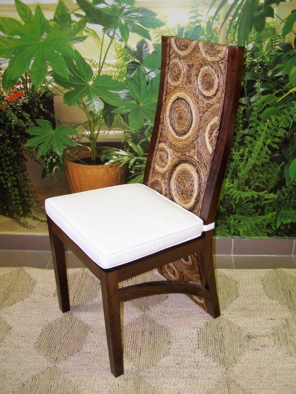 jídelní židle HAIFA - mahagon - banánový list