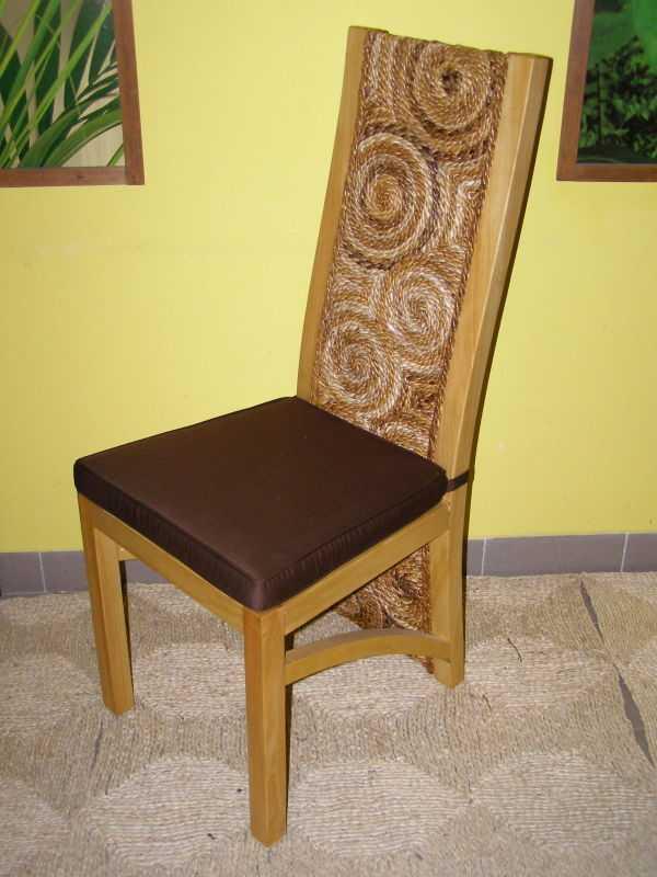 jídelní židle LATVIA - borovice - banánový list