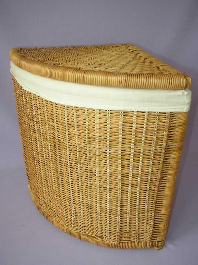 Kapradinový prádelní koš rohový | RYCHLÉ DODÁNÍ