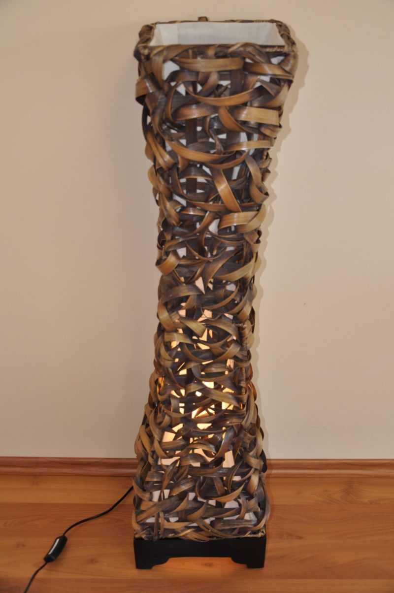 Lampa bambusová 100 cm včetně LED žárovky SLEVA 10 % | RYCHLÉ DODÁNÍ