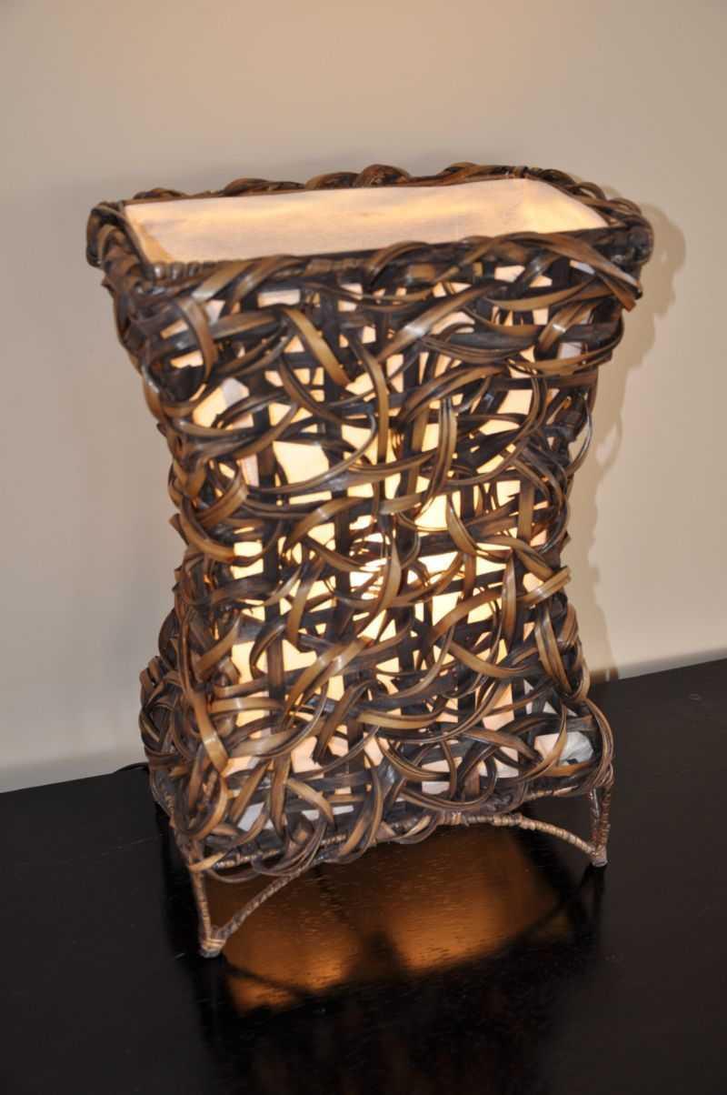 Lampa bambusová malá X včetně LED žárovky | RYCHLÉ DODÁNÍ