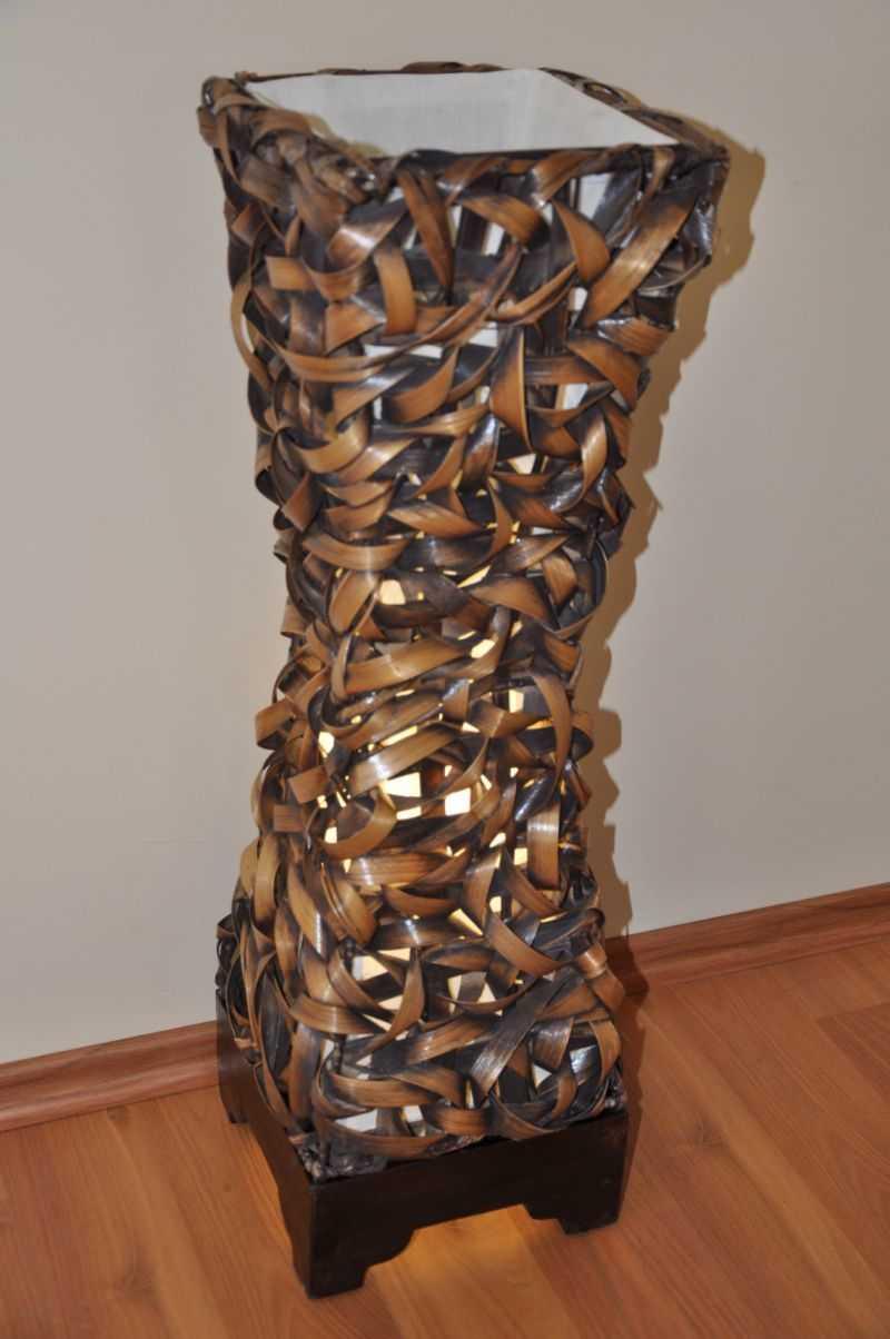 Lampa bambusová střední včetně LED žárovky SLEVA 7 % | RYCHLÉ DODÁNÍ