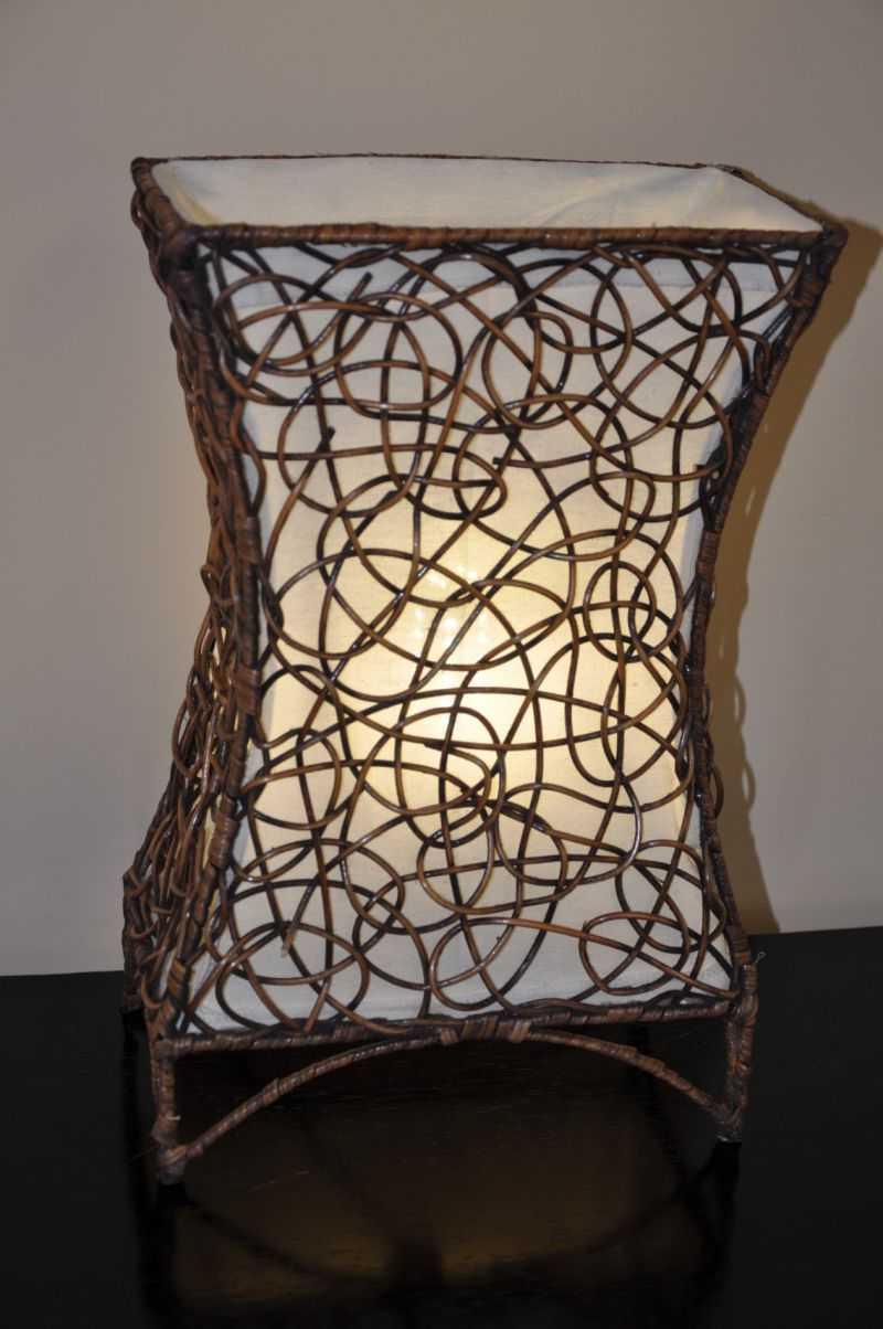 Lampa ratanová malá včetně LED žárovky | RYCHLÉ DODÁNÍ