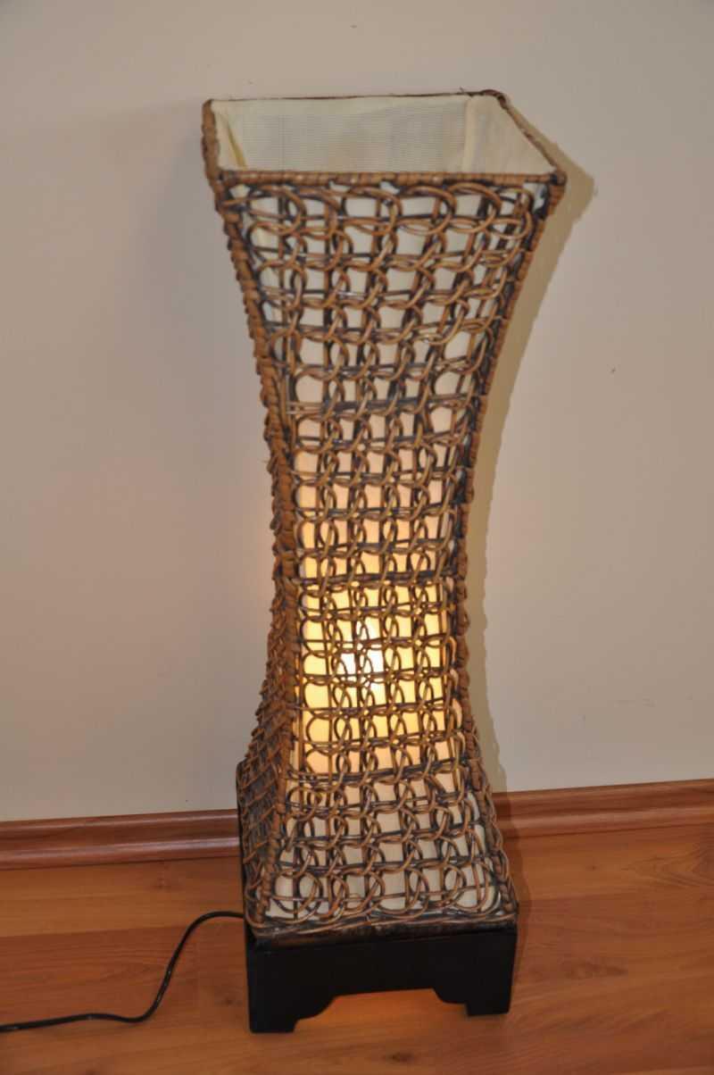Lampa ratanová střední včetně LED žárovky SLEVA 7 % | RYCHLÉ DODÁNÍ