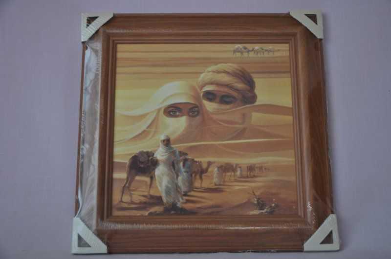 Obraz Sahara 45x45 tmavý rám O8 | RYCHLÉ DODÁNÍ