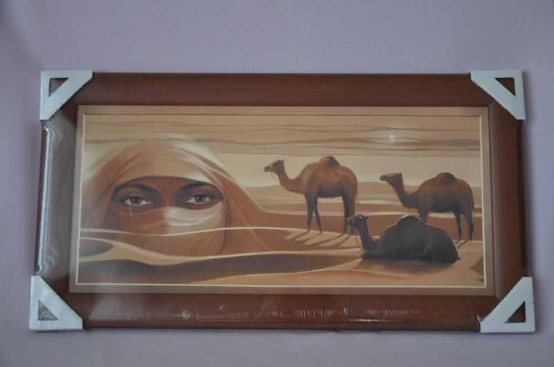 Obraz Sahara 56x30 tmavý rám O3 | RYCHLÉ DODÁNÍ
