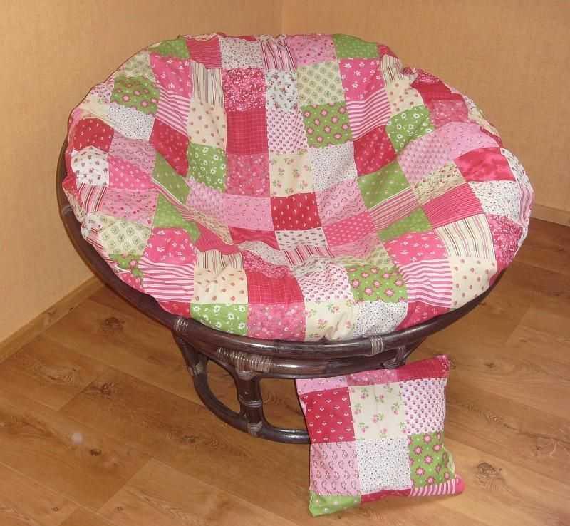 Papasan růžový mozaika 100 cm + polštářek zdarma