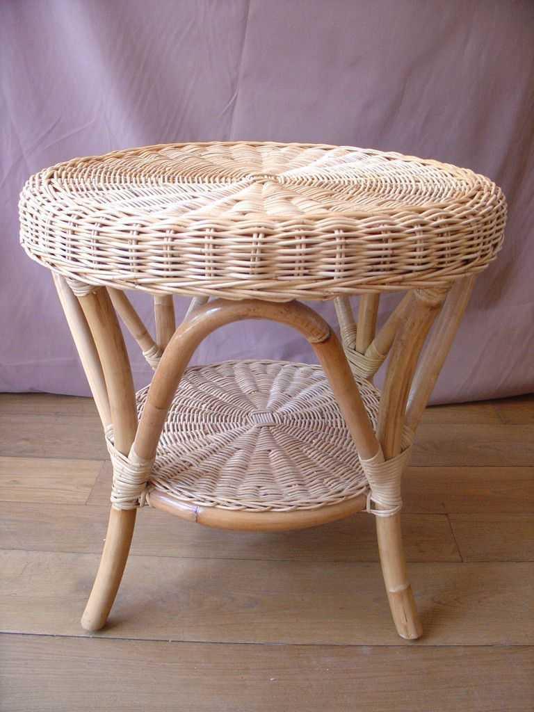 PARADIS ratanový stůl white pulut | RYCHLÉ DODÁNÍ