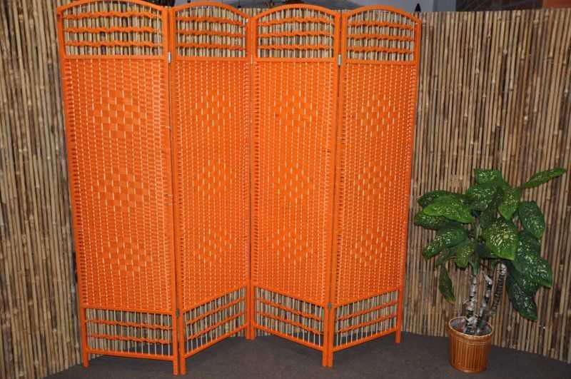 Paravan provázkový barva oranžová | RYCHLÉ DODÁNÍ