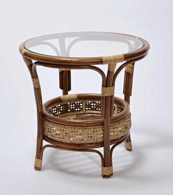 PETANI ratanový stůl VČETNĚ SKLA | RYCHLÉ DODÁNÍ