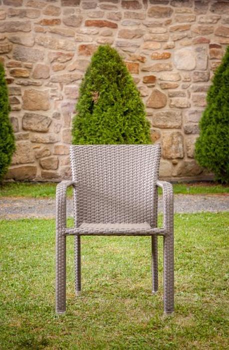 Dimenza pohodlné zahradní křeslo BARCELONA - hnědé
