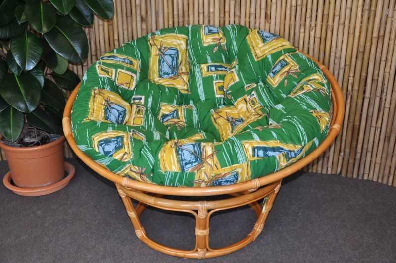 Polstr na křeslo papasan 100 cm zelený | RYCHLÉ DODÁNÍ