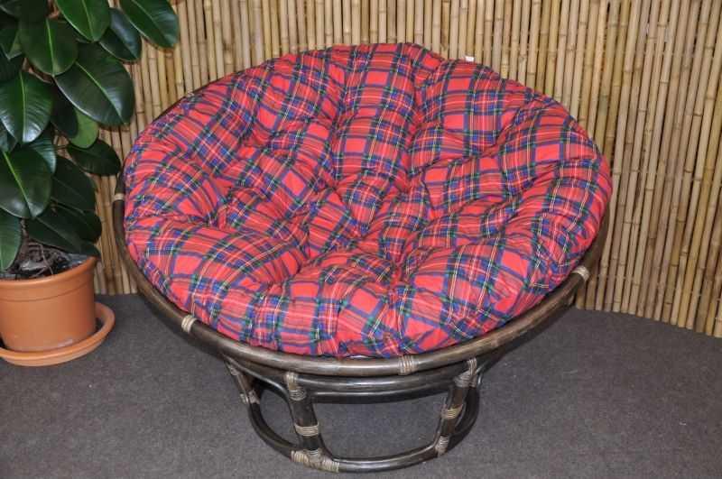 Polstr na křeslo papasan 110 cm červený CZ | RYCHLÉ DODÁNÍ