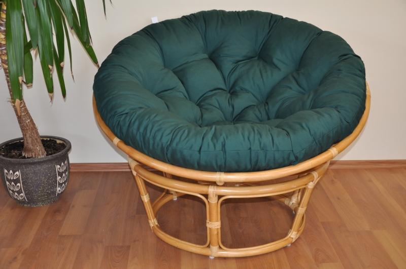 Polstr na křeslo papasan 110 cm zelený dralon | RYCHLÉ DODÁNÍ