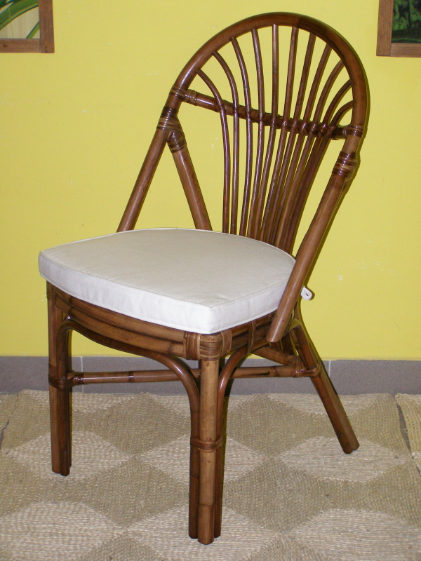 ratanová jídelní židle BALI - tmavá